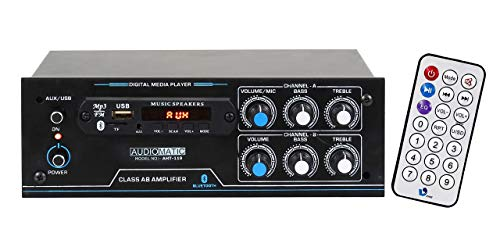 AudioMatic AHT-119 - 4 Channel Home DJ Amplifier with Bluetooth, FM & USB Player 5500W PMPO