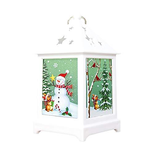 Wanshop 2PC Weihnachtsdekoration LED Tee Licht Kerzen Für Weihnachtsdekoration Teil Außenseite Beleuchtet Hauptdekoration flackert (K)