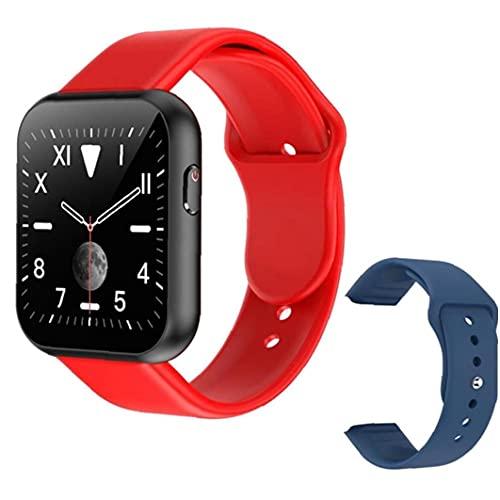 Smart Watch Full Touch Bluetooth Smartwatch mit Blau Ersatzriemen Herzfrequenz-Test X6 Plus-Sport Multi Usage Smart-Armband für Männer Red