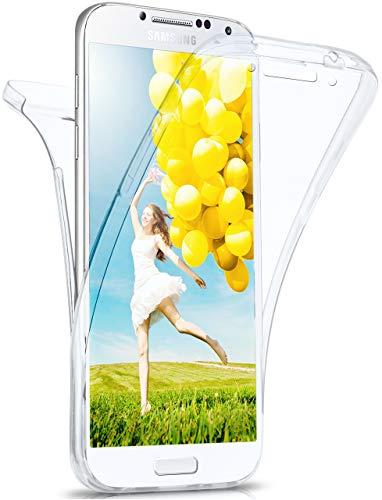 moex Double Case für Samsung Galaxy S4 - Hülle mit 360 Grad Schutz, Silikon Schutzhülle, vorne und hinten transparent, Clear Cover - Klar