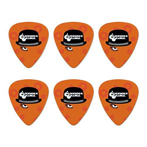 A Clockwork Orange Hat and Logo Novelty Guitar Picks Medium Gauge - Set of 6