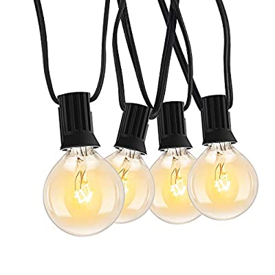 Amazon - Save 50%: Outdoor Globe String Lights G40 25Ft Patio Edison Bulb Lights UL List…