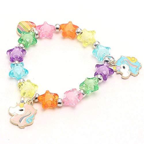 Explore Crafts Kids Small Unicorn Star Shaped Stretch Bracelet Jewellery
