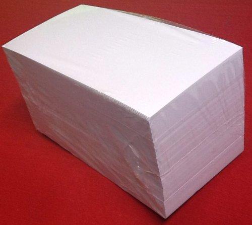 "\""die Dicken\"" 500 Moderationskarten Rechteck 10x20cm weiß 180 g/qm, Inh. 500 Stück Rechtecke"