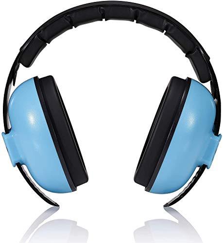 Ousyaah Baby Gehörschutz Kapselgehörschutz, Lärmschutz Ohrenschützer, 0-3 Jahre, Ohrenschützer Rauschunterdrückung mit extra weichem Kopfbügel (Blau)