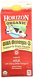 Horizon Organic, Whole Milk with DHA Omega-3, Ultra Pasteurized, Half Gallon 64 oz