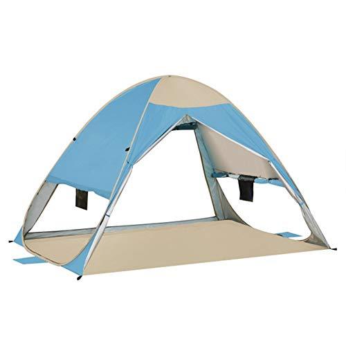 Ai-lir Event Zelt Roboter Instant Pop Up Strandzelt Whippersnapper 1-2 Personen im Freien Tent UV-Schutz Camping Zelt Cabana Sonnenunterkunft (Color : Blue)