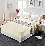XGguo Protector de colchón - Protector de colchón antialérgico Sábana de Hotel de una Sola Pieza de algodón Engrosamiento-Beige_180 * 200cm