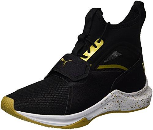 Puma Phenom Gold Wn Sneaker, Nero, Nero (nero/oro squadra.), 36 EU