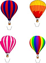 Novelty Hot Air Balloon Mix 12 Edible Stand up wafer paper cake toppers (5 - 10 BUSINESS DAYS DELIVERY FROM UK)