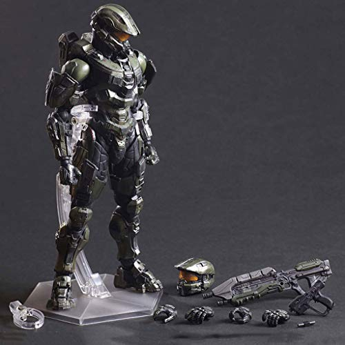 POIUYT Figura De Acción Anime Halo 5 Halo Sergeant Joint Movable Character Model