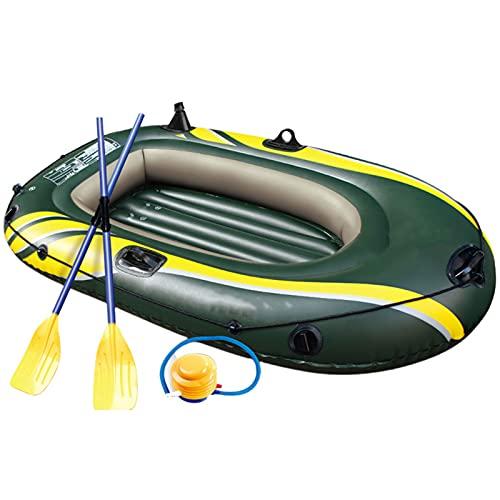 LANGTAOSHA Canoa per Gommone Portatile per 2 Persone, Kayak Gonfiabile con Pompa Ad Aria per Adulti E Bambini, Pesca, Attrezzatura...