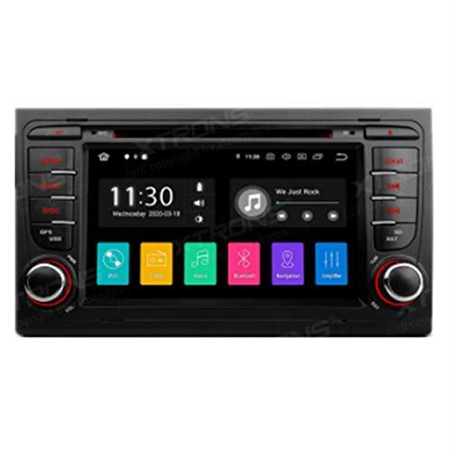 KAUTO 7 Pollici Doppio DIN Android 10.0 Autoradio Radio Lettore Dvd Navigazione GPS unità Principale Supporto Bluetooth WiFi Android Auto DVR Dab + TPMS per Audi A4 S4 RS4 -