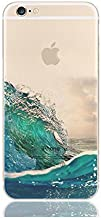 iPhone 6 / 6S Compatible, Designer Collection Colorful Rubber Silicone TPU Back Cover for Apple - Marine Ocean Sea Waves