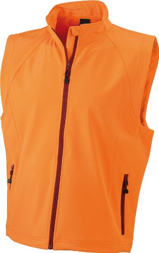 James & Nicholson Herren Jacke Softshellweste orange (orange) Medium