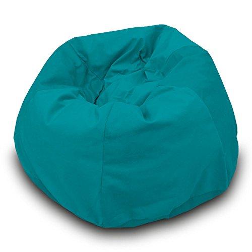 Pufmania Pouf poire imperméable en polyester pour extérieur 110 x 70 cm Taille L turquoise