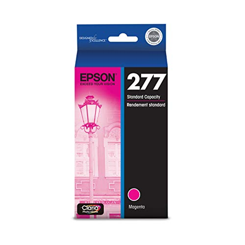 EPSON T277 Claria Photo HD Ink Standard Capacity Magenta Cartridge (T277320) for Select Epson Expression Printers