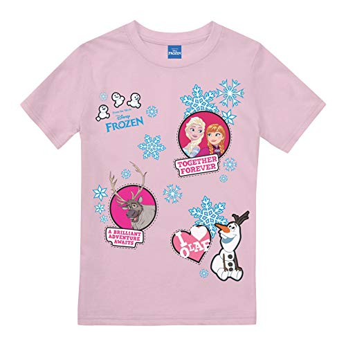 Disney Frozen Together Forever Patches T-Shirt Bambina