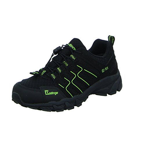 Kastinger Trailrunner,Damen,Herren,Trailrunner,Outdoor-Trekkingschuh, K-Tex Membran,wasserdicht,atmungsaktiv,Schnellschnürung,Black/Lime, EU 39