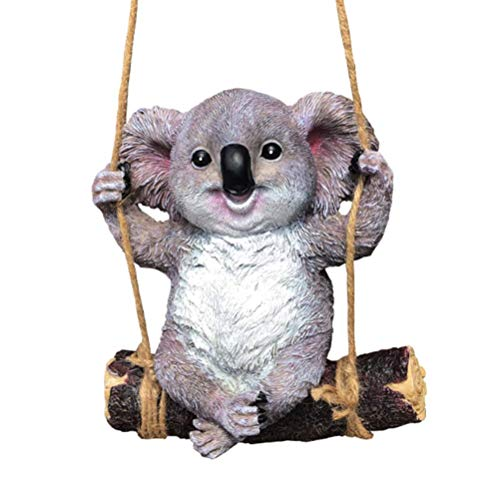 Koala Swinging Koala Garden Figurine Outdoor Yard Hanging Ornament Decoration