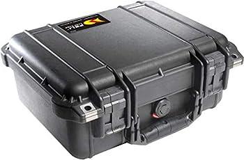 PELI 1400 valise pour caméra, drones et équipements électroniques sensibles, étanche à l'eau et à la poussière IP67, capacité de 9L, fabriquée en Allemagne, avec mousse personnalisable, noire