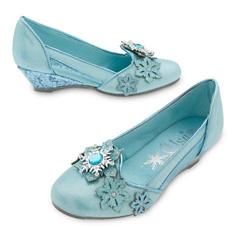 Chaussures de déguisement pour enfants Elsa de La Reine des Neiges Taille UK 7-8 / EU 24-26