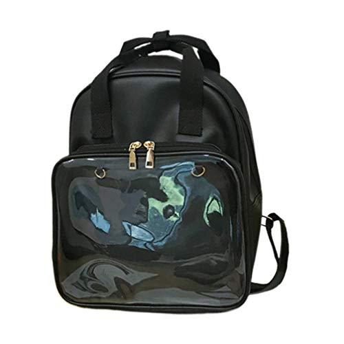 TENDYCOCO klarer rucksack ita tasche diy transparenter schulrucksack pvc bookbag für frauen mädchen