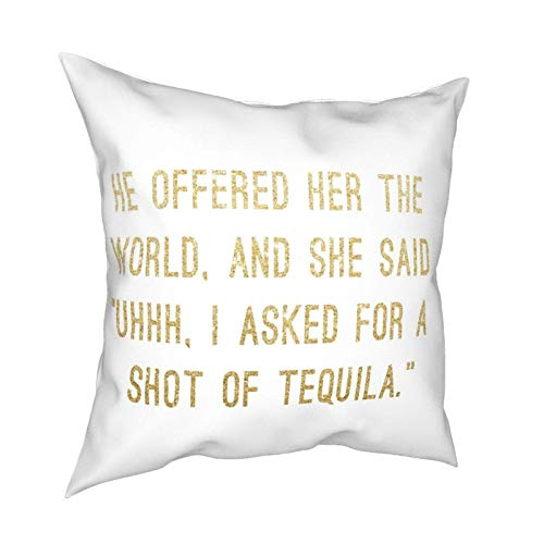 Shot of Tequila Tapestry Pillow Case Fashion Square Federa Decor Throw Pillow Cover 45 X 45 cm