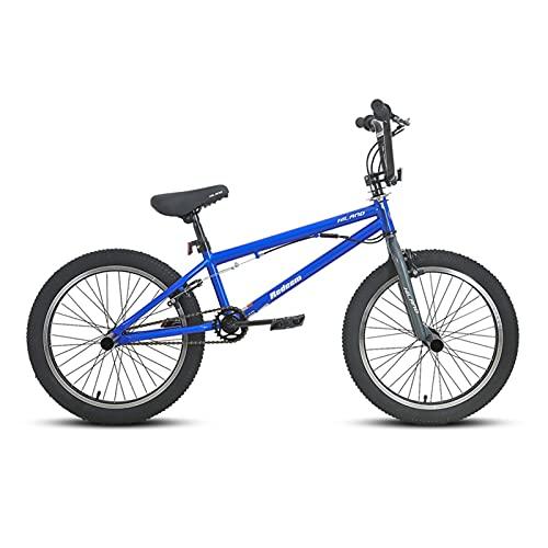 Story 10 Color & Series 20 '' BMX Bike Freestyle Steel Bicycle Bike Double Caliper Freno Show Bike Stunt Bike Acrobatic (Color : Blue)