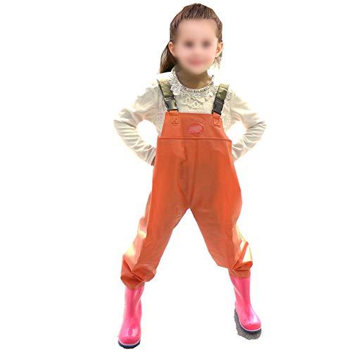 FENGXONG Kinder Watanzug Watanzug Schneekampfhose Lange Stiefel Kinder Watanzug (Farbe : Armeegrün, Size : M)
