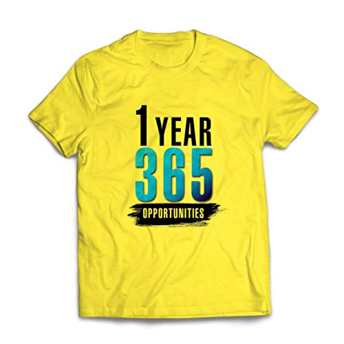 lepni.me Mannen T-shirt 1 Jaar 365 Kansen Inspirerende Ideeën Voor Verjaardagscadeaus