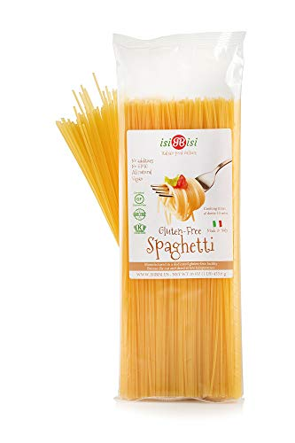 isiBisi Spaghetti Gluten Free Pasta - Rice and Corn Flour - Made in Italy (16 oz - Single Pack)