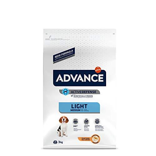 ADVANCE Light - Croquettes pour Chien Medium Adult pour un Poids Optimal avec Poulet - 3kg