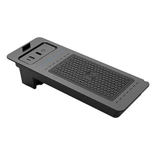 WY-CAR Cargador Inalámbrico Automóvil para Ford F150 2015 2016 2017 2018 2019 2020, 10W Automóvil Sensor Automatico Cargador para iPhone 12/11/XS/XR/X Samsung S20/S10/S9