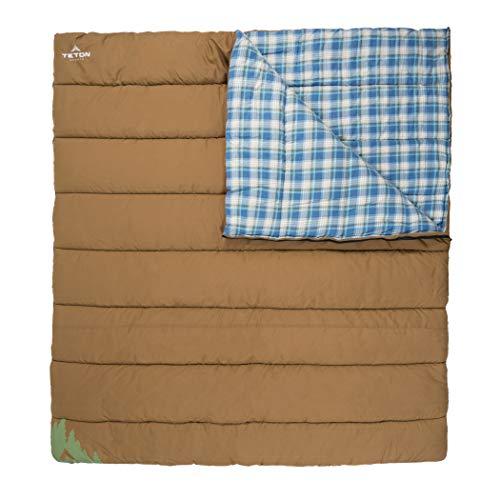 TETON Sports Unisex's Evergreen Canvas sleeping, Tan, 20F/+40F Double Bag