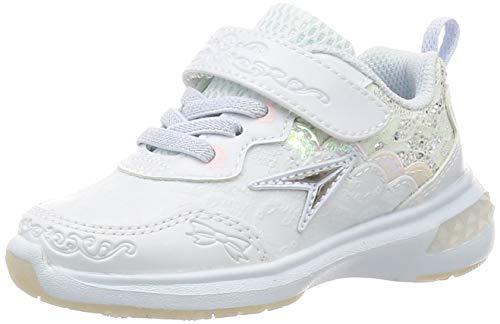 [シュンソク] スニーカー 運動靴 軽量 15~24.5cm D キッズ 女の子 LEJ 6410 サックス 20 cm D