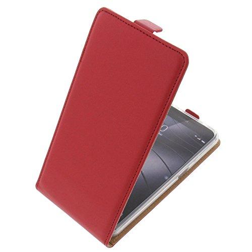 foto-kontor Tasche für Gigaset Me Pro Smartphone Flipstyle Schutz Hülle rot