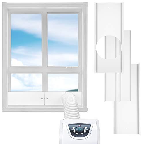 AGPTEK Portable Air Conditioner Window Vent Kit, AC Window Slide Kit Plate for 15cm/5.9 inch Exhaust Hose, Support Length Adjustment