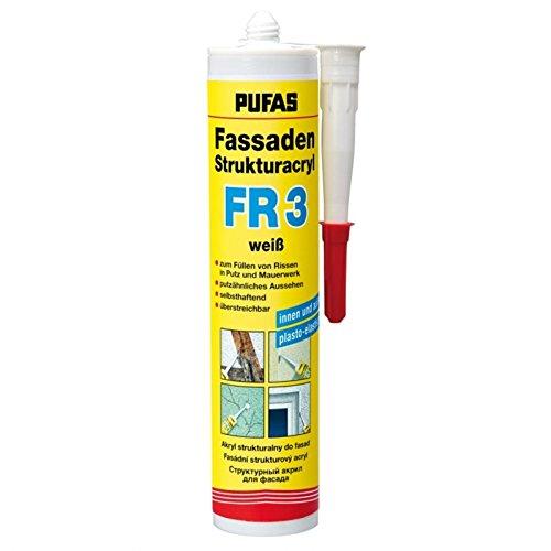 Pufas Fassaden Strukturacryl FR 3 zum Füllen von Rissen 0,310 KG