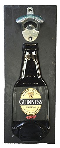 BottleClocks Guinness - Abridor de Botellas de Cerveza montado en la Pared sobre Pizarra Hecho Gran artículo para Tus Amigos de Cerveza