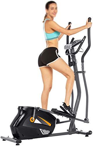 Aerobic ejercicio en casa del deportista, porta-rodillo transversal elíptica 10 con la resistencia/HR,Black