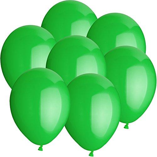 10x Rundballons LIMETTENGRÜN Ø25cm + Geschenkkarte + Helium & Ballongas geeignet. Tolle Luftballondeko und Geschenkidee mit Ballons.