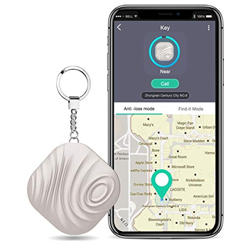 BEBONCOOL Schlüsselfinder, Key Finder Kompatibel mit iOS / Android, Schlüssel Finder mit Bidirektionalem Alarm / Silent Mode, Multifunktionaler Keyfinder, Smart One Touch Find Schlüsselfinder Gps