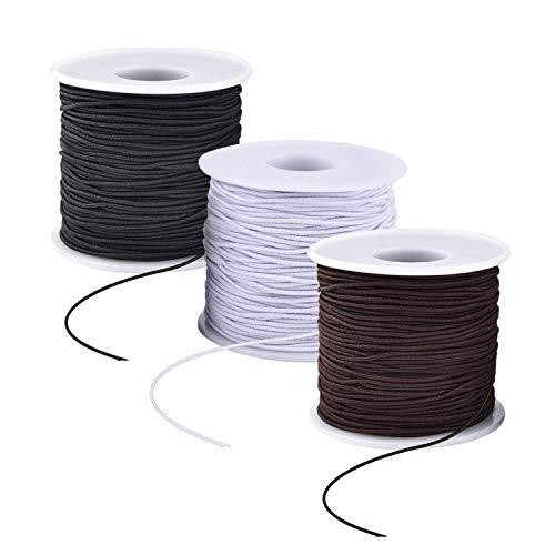 150 m Armband Elastische Schnur Perlen Elastisch Faden 1mm Beading Cord Faden für DIY Schmuckherstellung (3 Farben)