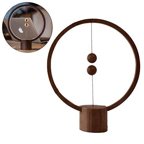 Arisesun - Lámpara de equilibrio magnética con interruptor de aire y luz nocturna LED con alimentación USB, luz de noche para dormitorio o noche
