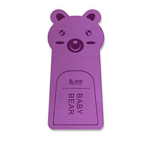 Esterilla de yoga para ejercicio femenino ensanchada y engrosada para principiantes, manta de yoga y yoga alargada, antideslizante para el hogar (color: morado, tamaño: 183 x 80 x 8 mm)
