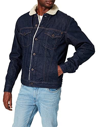 Pepe Jeans Pinner Chaqueta Vaquera, Azul (Raw DLX Denim 000), Large para Hombre