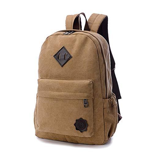 Vinteen Die neue Retro-Segeltuch-Rucksack mit hohen Kapazität Junior High Studenten Schultasche koreanischer Version männlichen Freizeit-Spielraum-Rucksack Laptop-Taschen-Umhängetasche (Color : A)