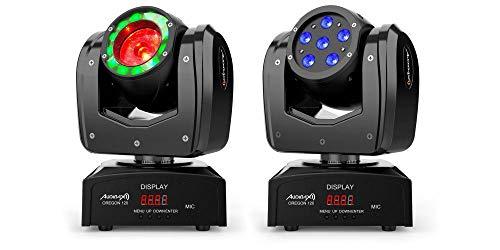 Audibax Oregon 120 - Testa mobile, per Discoteca Beam Osram + Wash RGBW 4 in 1