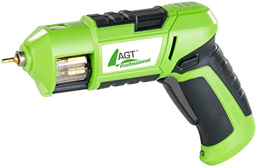 AGT Professional Autoloader-Akkuschrauber mit Bit-Trommel AW-03.ps, Li-Ion Akku 3,6V